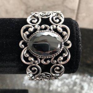 Vintage Danecraft sterling hematite bracelet